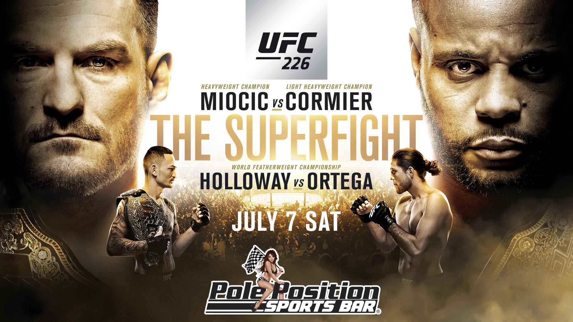 UFC 226 Miocic Vs Cormier   Pole Position Sports Bar 1920x1080
