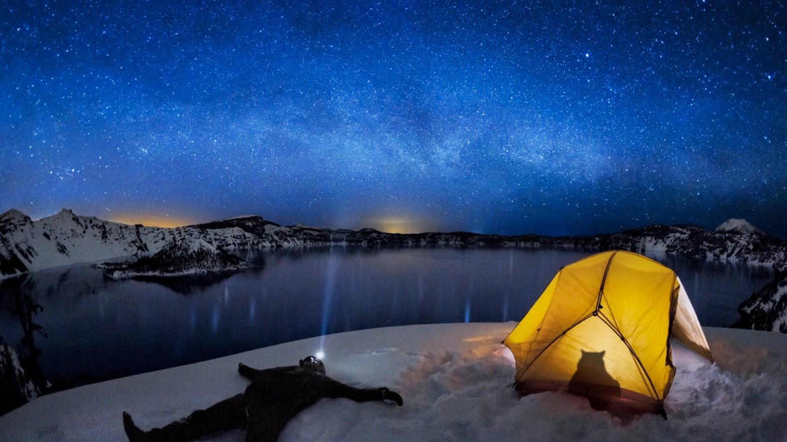 1600x898px crater lake bing wallpaper - wallpapersafari