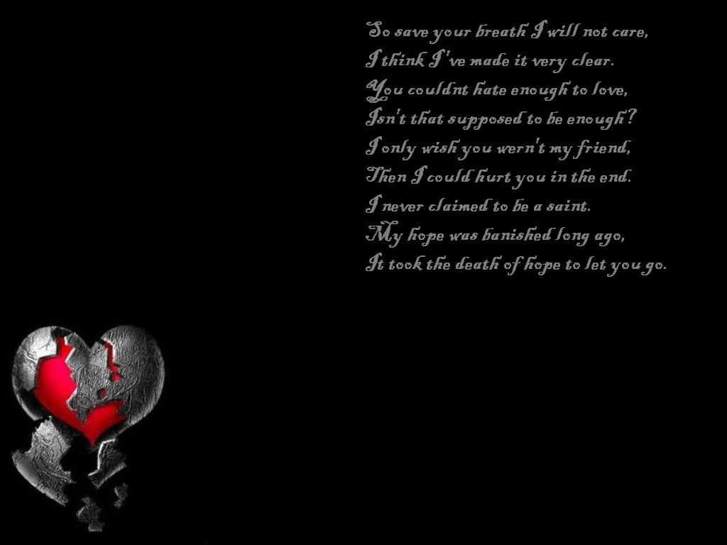 Broken Heart Wallpapers With Quotes Best HD Wallpapers 1024x768