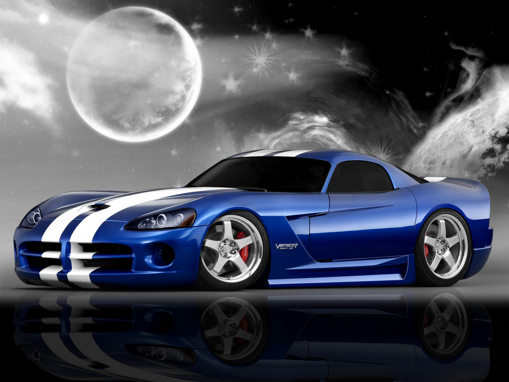 1024x768 Blue Dodge Viper Wallpaper Desktop Wallpaper | WallpaperLepi
