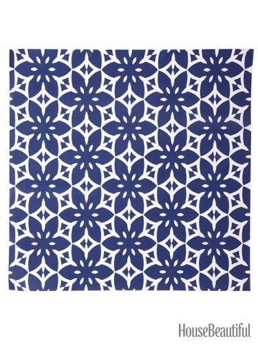 Tropic Peel and Stick Wallpaper housebeautifulcom wallpaper navy 375x500