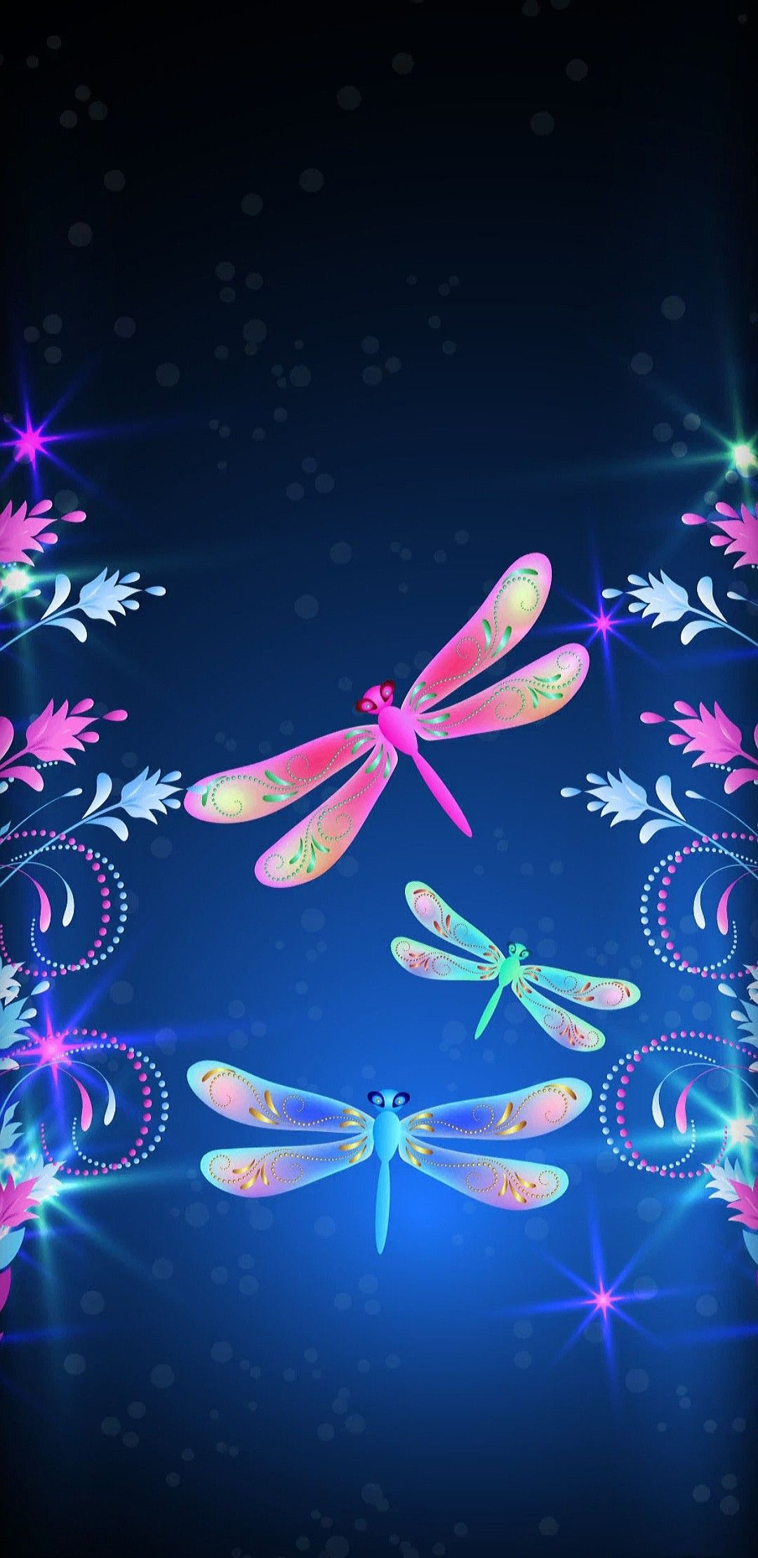 WallpaperBy Artist Unknown Phone wallpaper Dragonfly 1080x2220