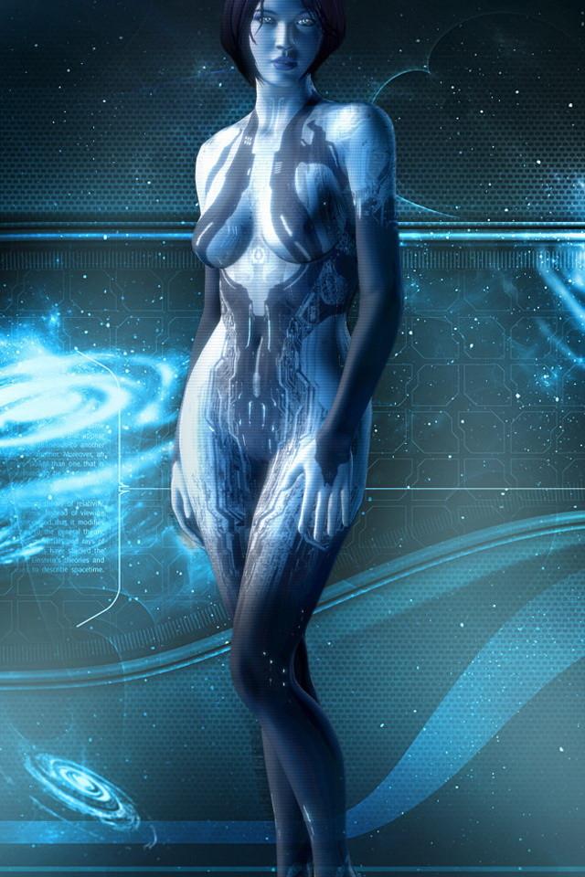 Halo 4 Cortana Wallpaper   iPhone Wallpapers 640x960