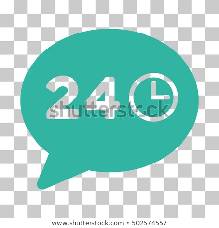 Cyan Message Hours Toolbar Pictogram Vector Stock Vector Royalty 1000x1000