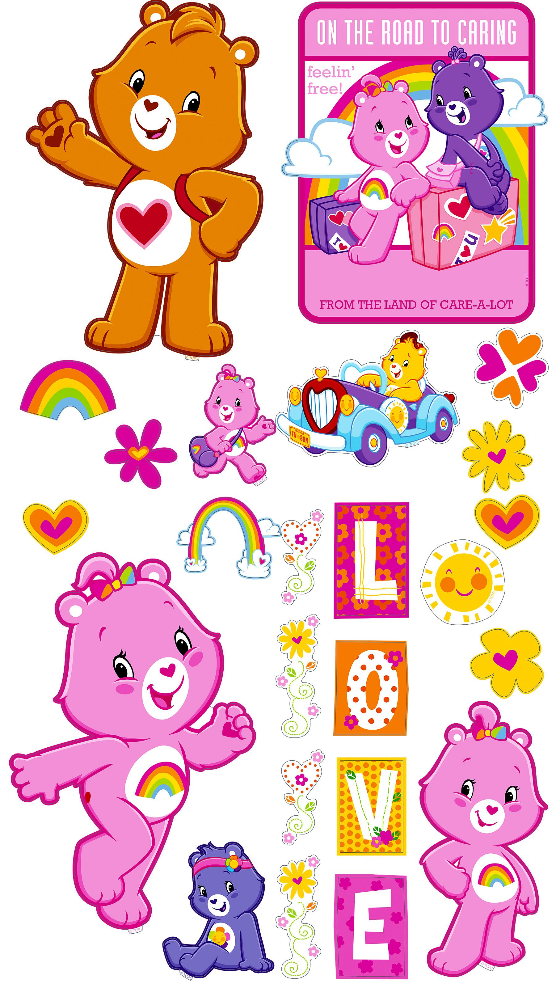 Brewster Wallcovering Care Bears Appliques Wallpaper 1800x3185