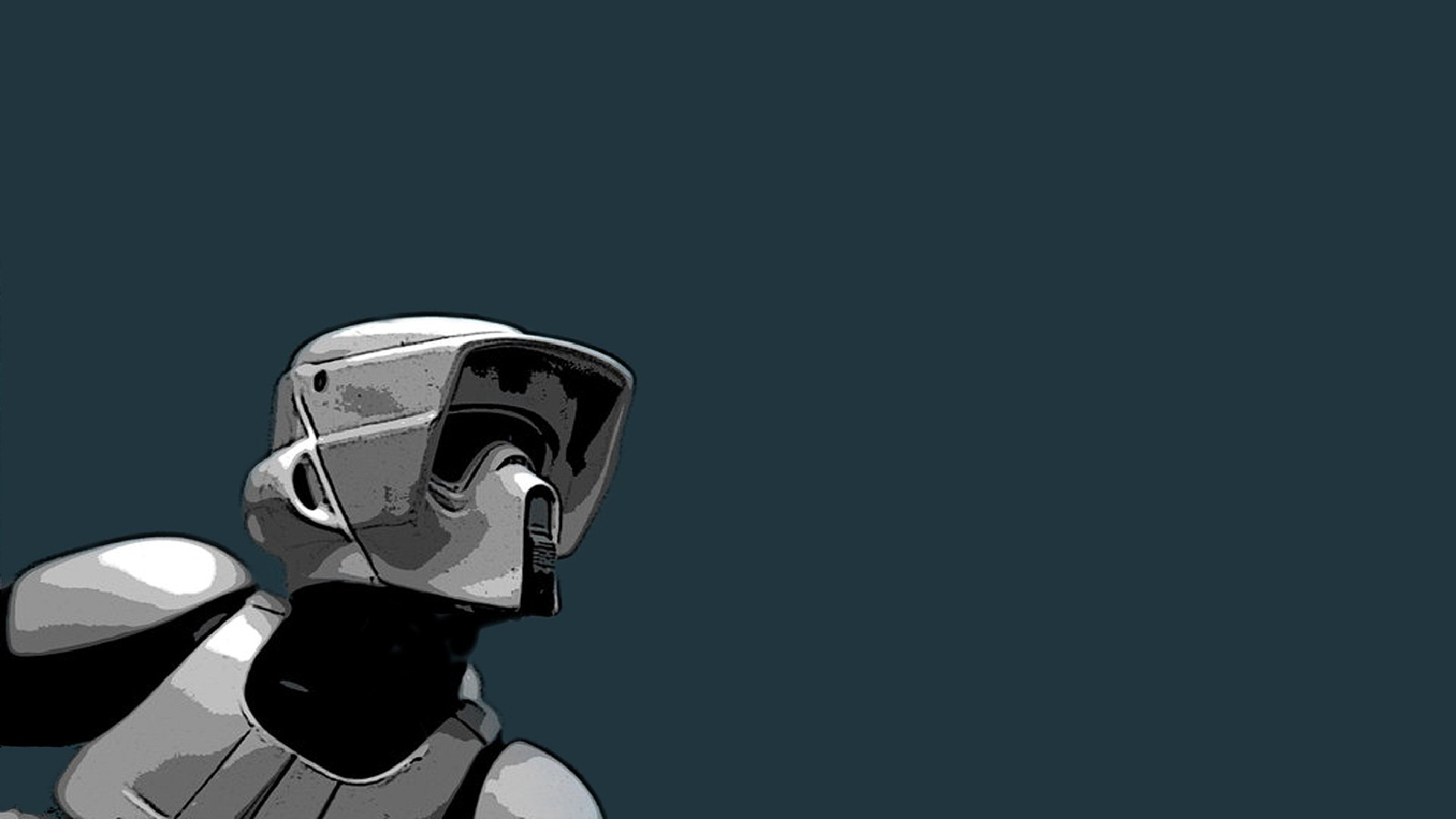 Star Wars Wallpaper 1920x1080 Star Wars Minimalistic Artwork Scout 1920x1080