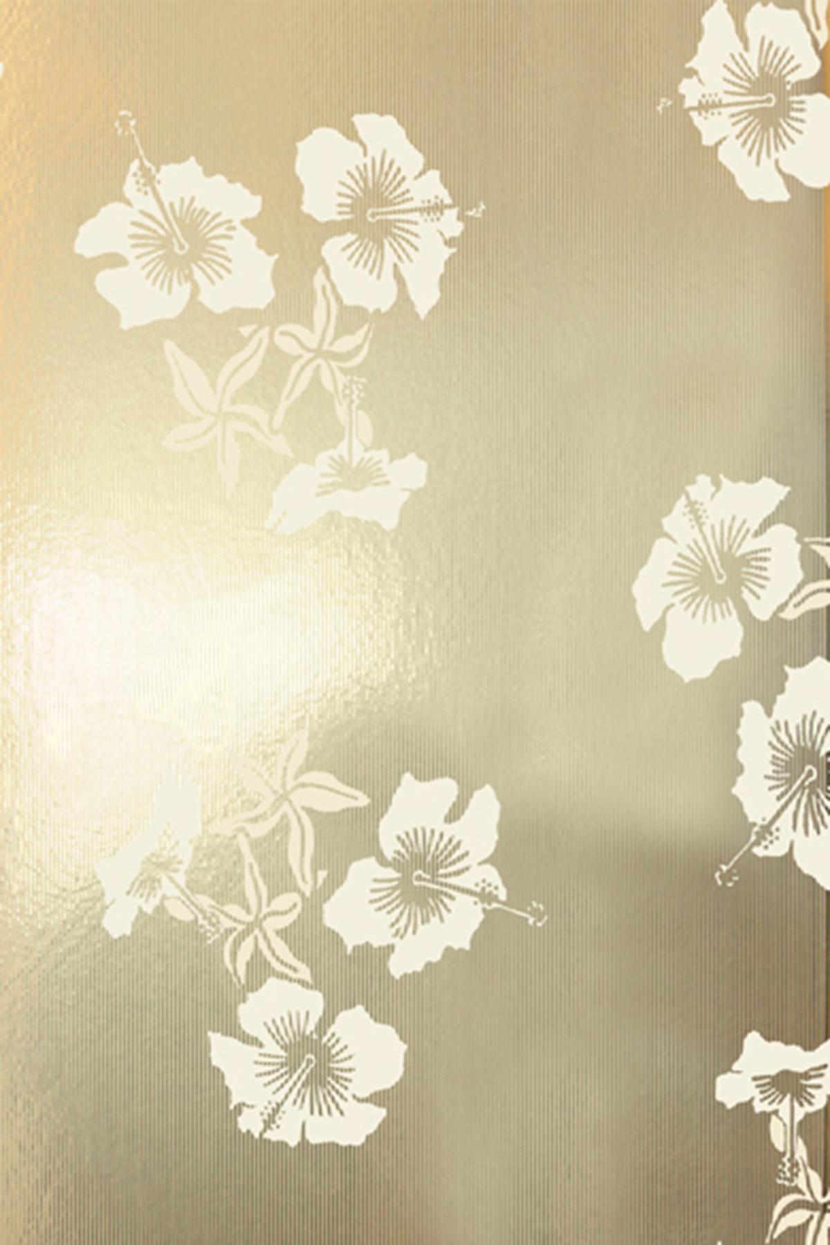 Hibiscus Wallpaper   Gold and Cream Monument Interiors 1200x1800