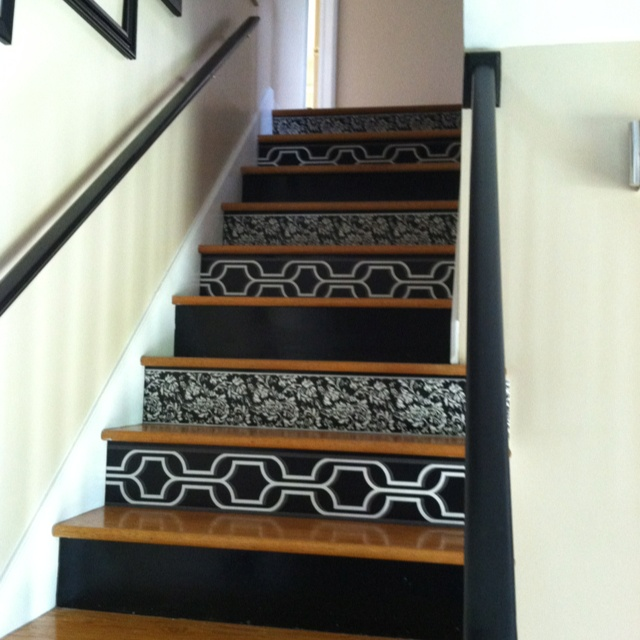 Wallpaper Stairs: Using Wallpaper On Stair Risers