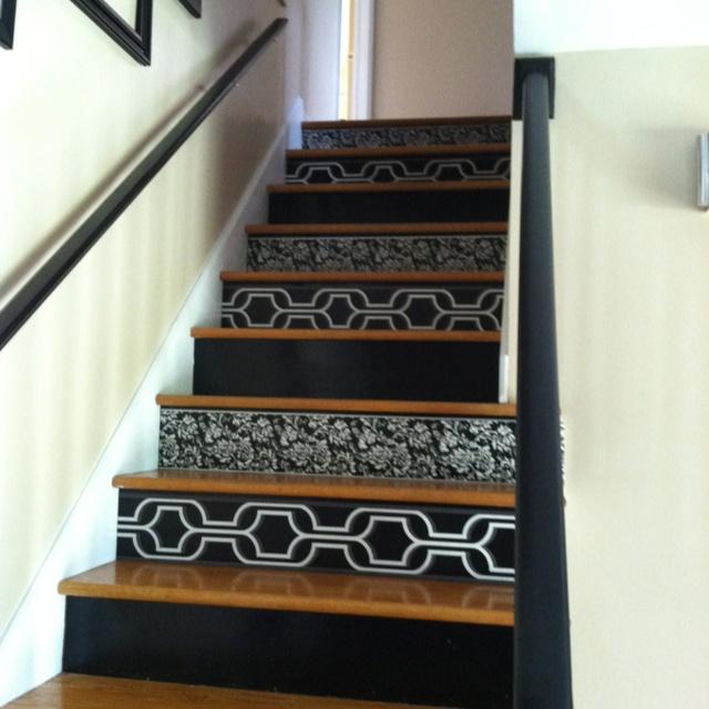 Using Wallpaper On Stair Risers Wallpapersafari