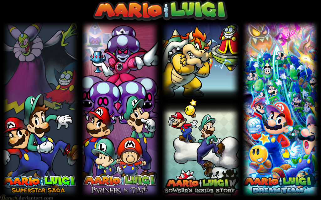 All Mario and Luigi Games Wallpaper 1440x900 by Baruch97 1024x640