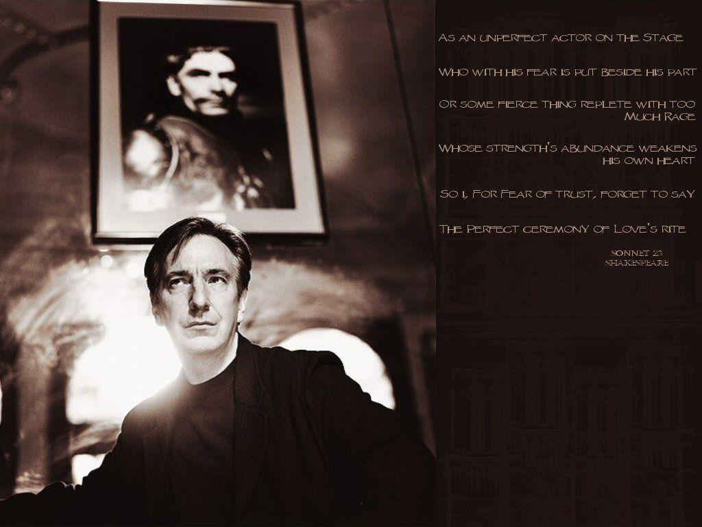 Free Download Alan Rickman Severus Snape Wallpaper 21933501