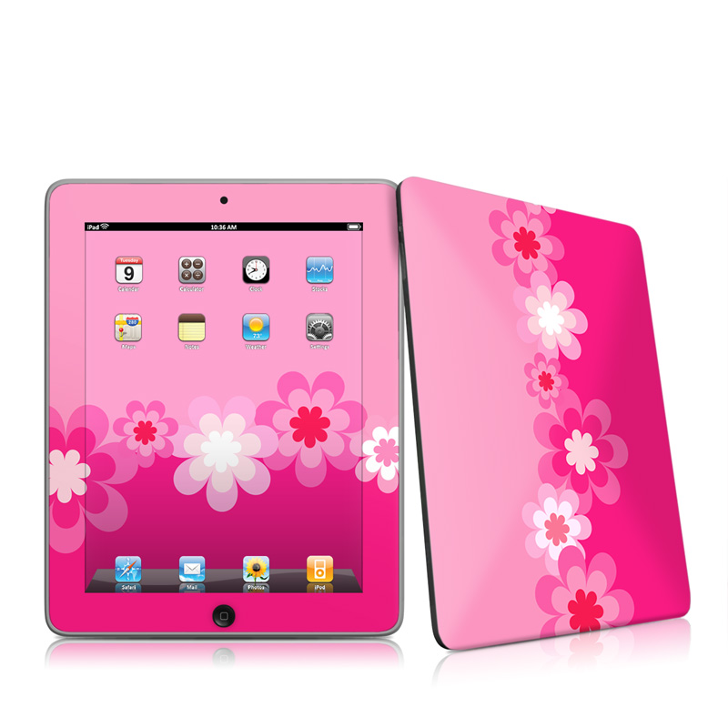 iPad iPad 2010 1st Gen Retro Pink Flowers Apple iPad 1st Gen Skin 800x800