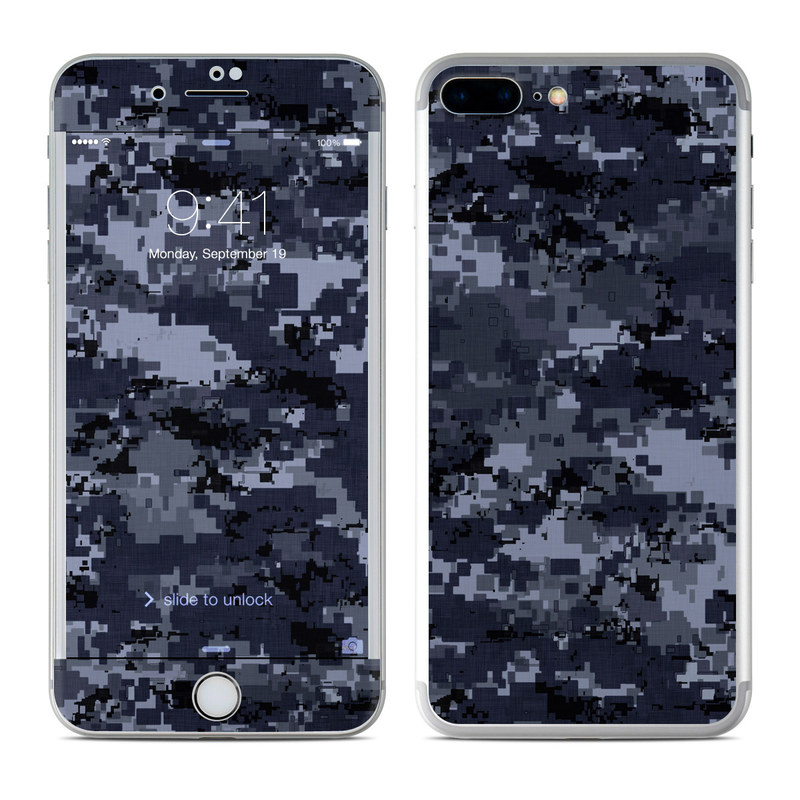 Apple iPhone 7 Plus Skin   Digital Navy Camo by Camo DecalGirl 800x800