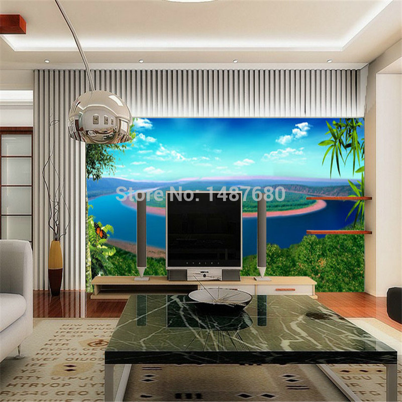 Custom made Landscape painting 3d wallpaper European minimalist 800x800