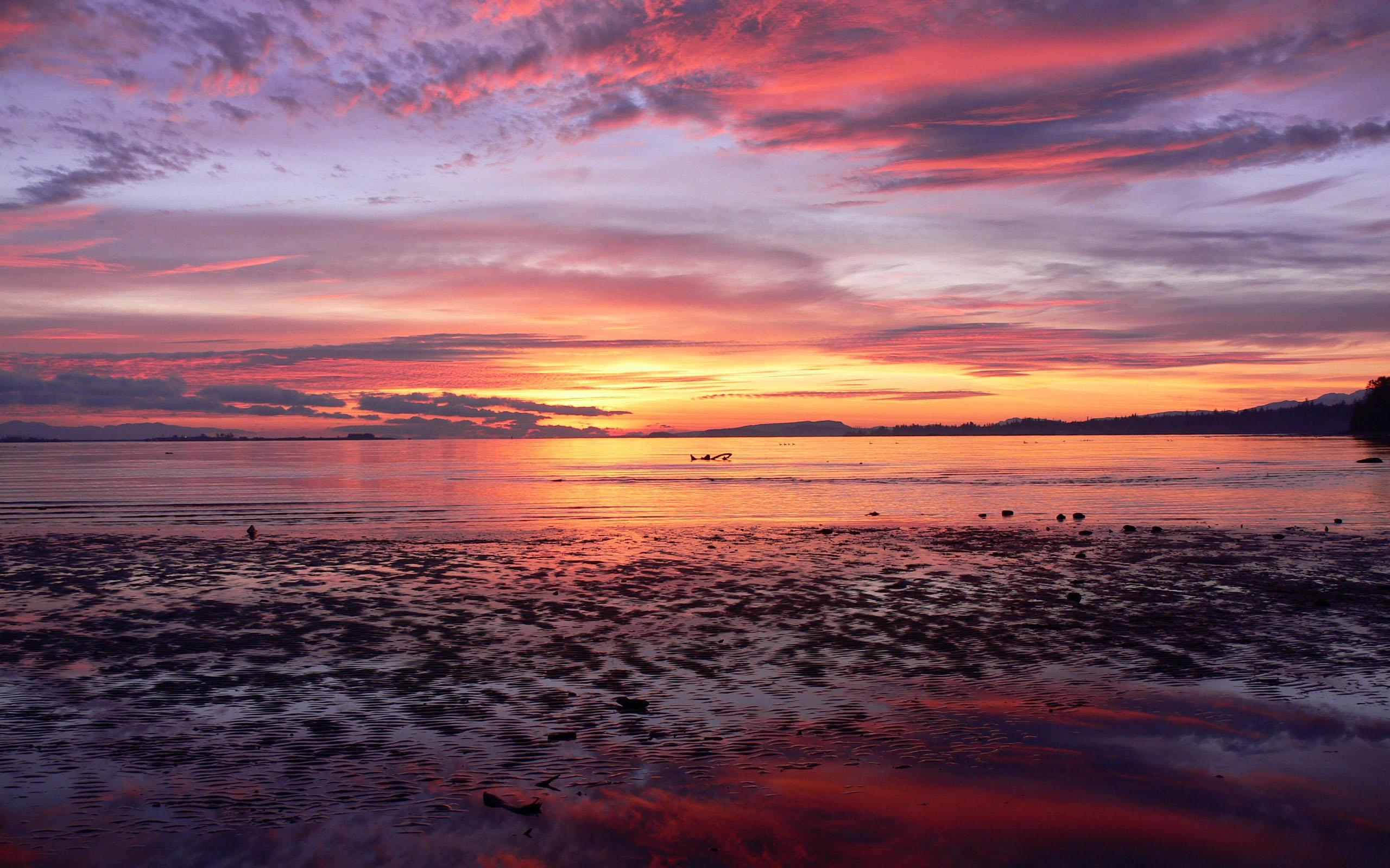 природа море горизонт небо закат  № 2493849 загрузить