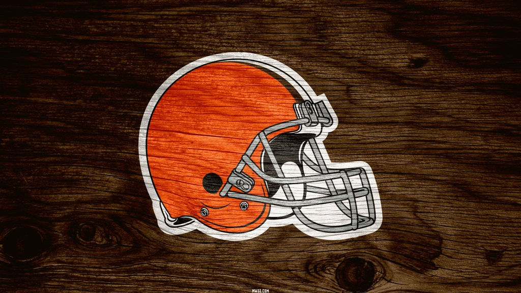 Cleveland Browns Helmet Weathered Wood Wallpaper for Phones and 1024x576