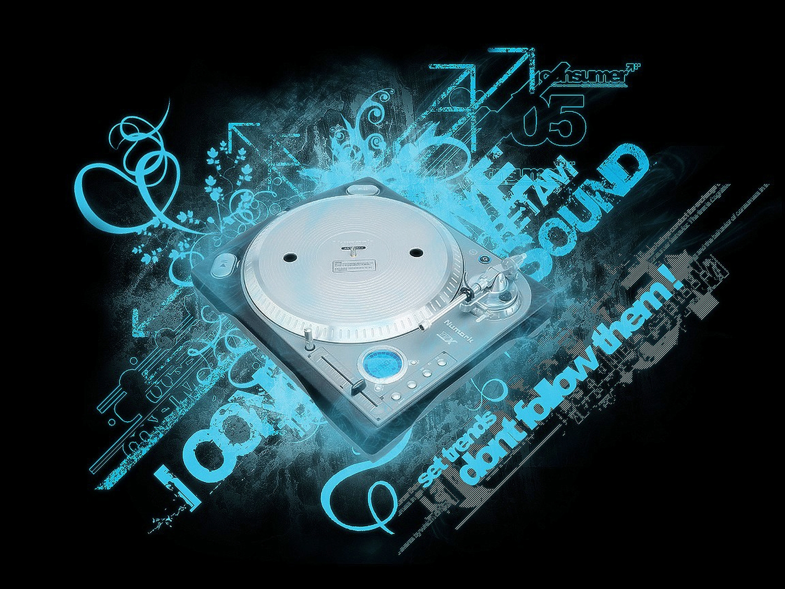 1600x1200 Disk Jockey sound desktop PC and Mac wallpaper 1600x1200