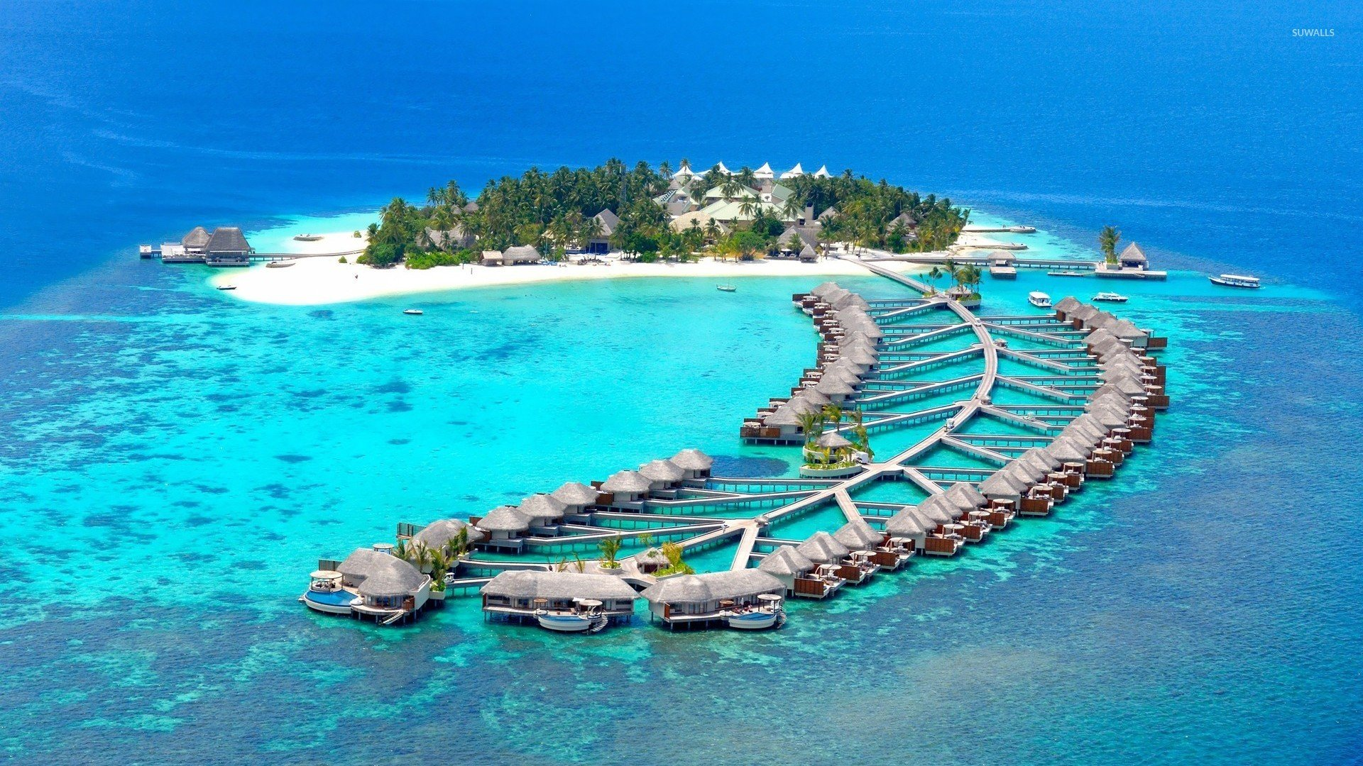Island resort in Maldives wallpaper   Beach wallpapers   22341 1920x1080