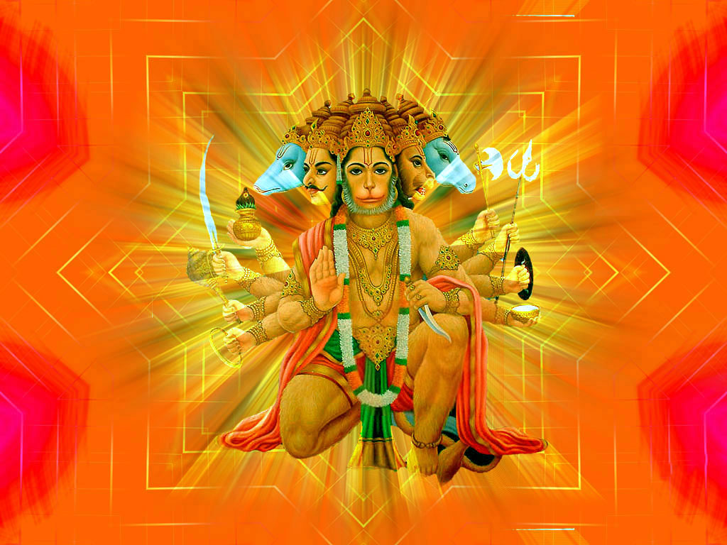 Panchmukhi Hanuman HD Wallpapers Hindu God HD Wallpapers 1024x768
