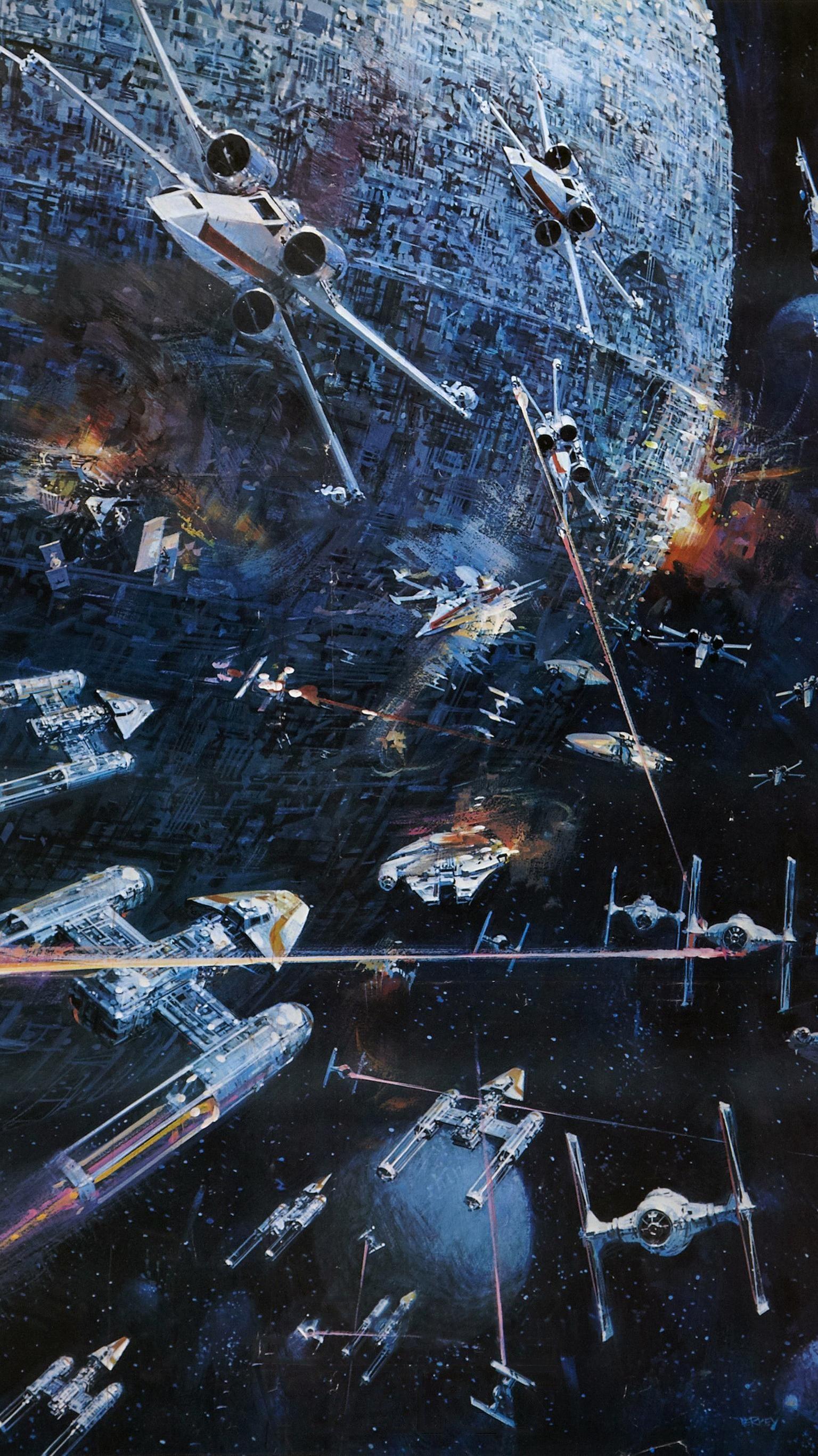 Star Wars 1977 Phone Wallpaper Background Star wars concept 1536x2732