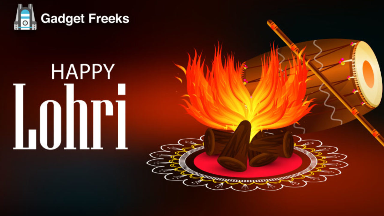 Happy Lohri 2020 Stickers Wallpapers Images for Whatsapp 1280x720