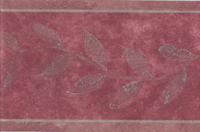 Burgundy Gold Leaves Wallpaper Border   Victorian Vintage 640x422