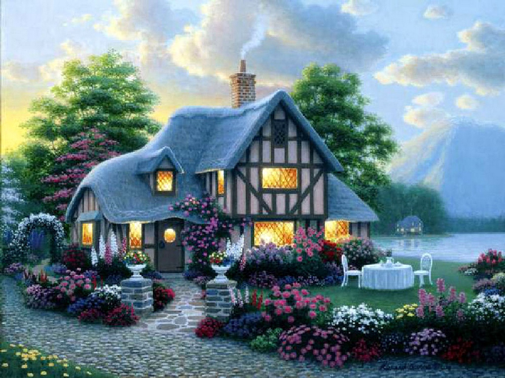 SPRING COTTAGE Wallpaper Download The SPRING COTTAGE Wallpaper 1024x768