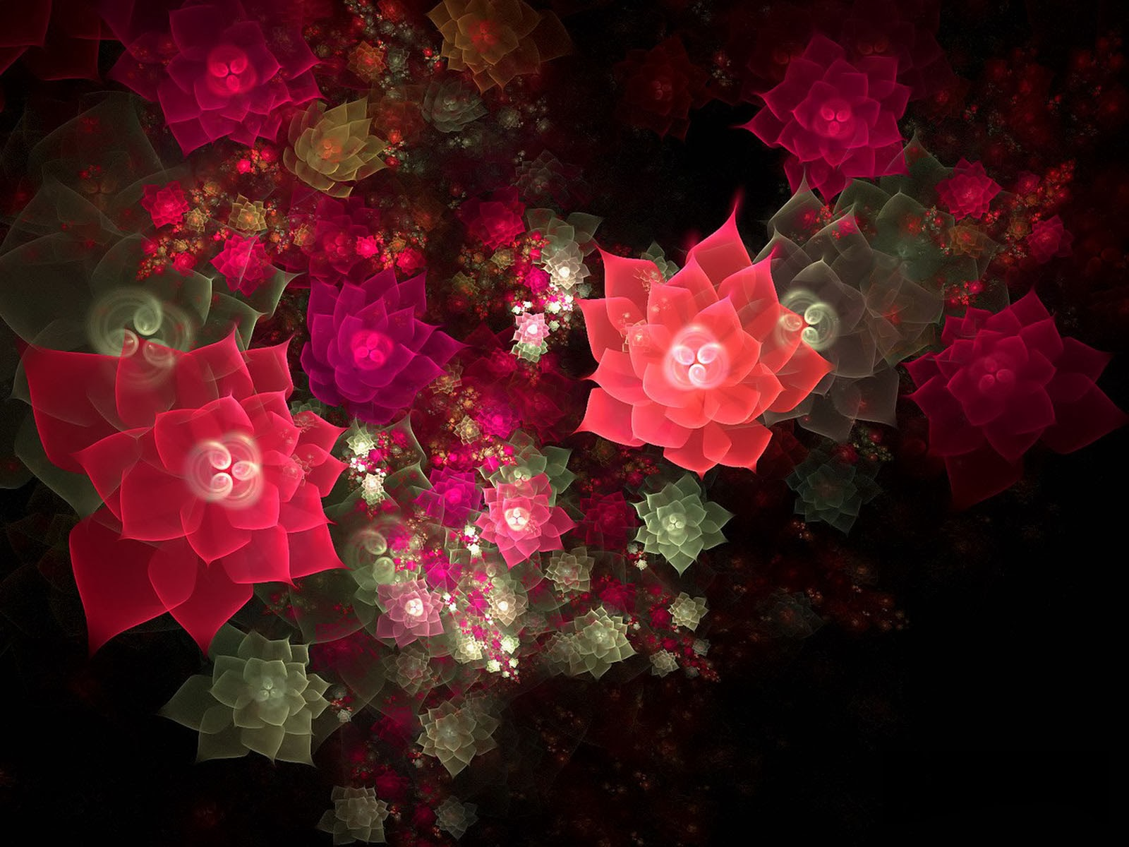 wallpapers 3D Flowers Wallpapers 1600x1200