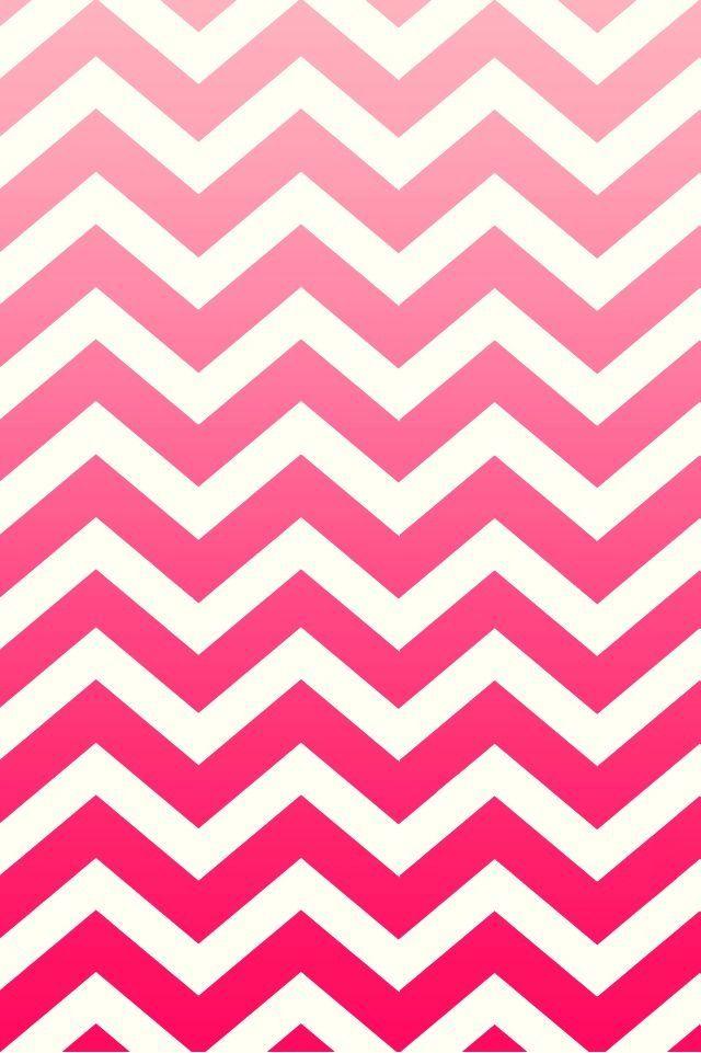 Pink ombr chevron Phone wallpapers Pinterest 640x961