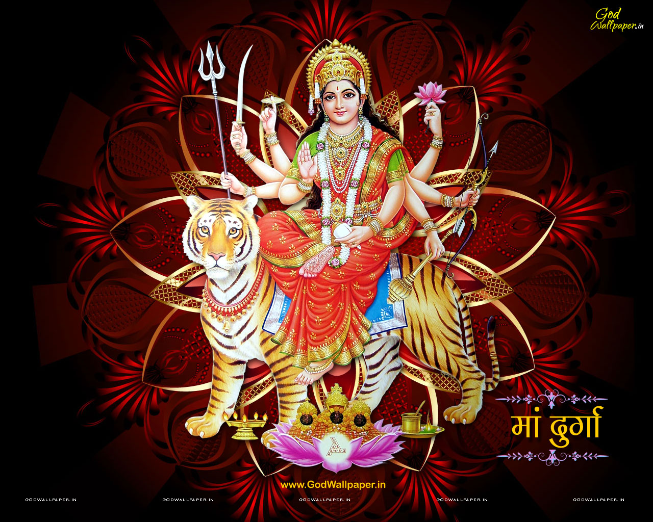 Goddess Durga HD Desktop Wallpaper Widescreen 1280x1024