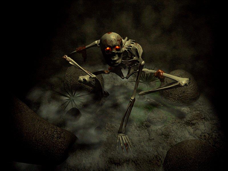halloween skeleton wallpaper - photo #4