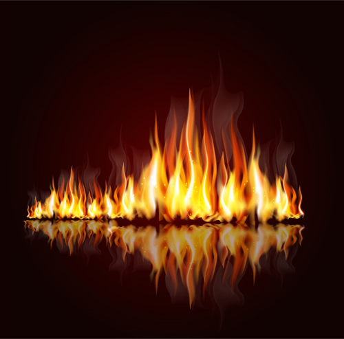 Vector Fire Backgrounds 01   Vector Background download 500x493