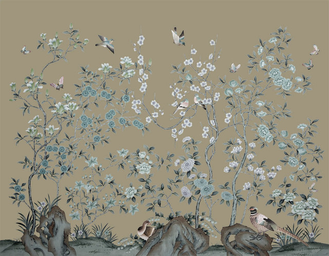 handpainted silk wallpaper   Asian   Wallpaper   other metro   by 640x498