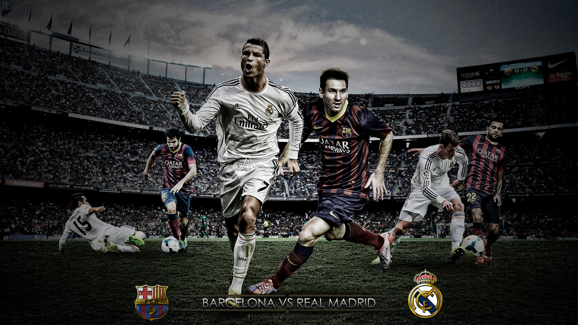 El Clsico Barcelona vs Real Madrid Wallpaper you like it 1920x1080