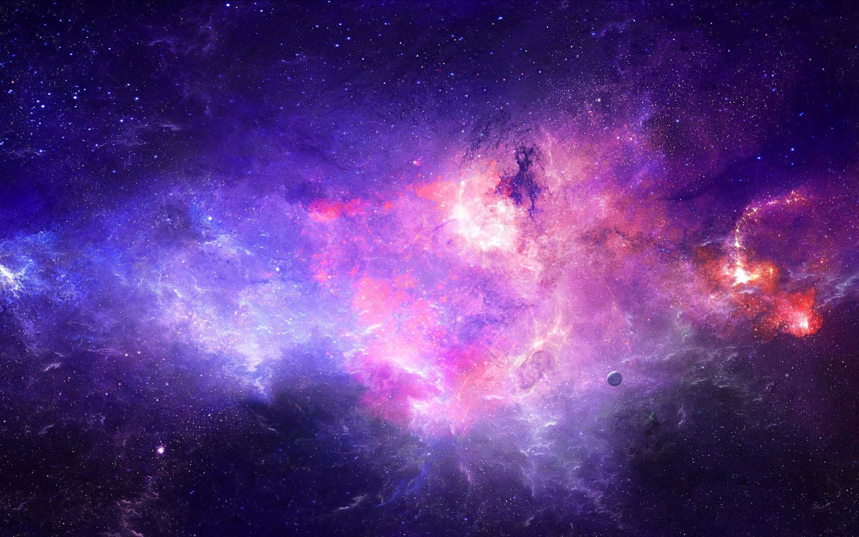 Purple Galaxy Wallpaper Images For Wallpaper Galaxy 2880x1800