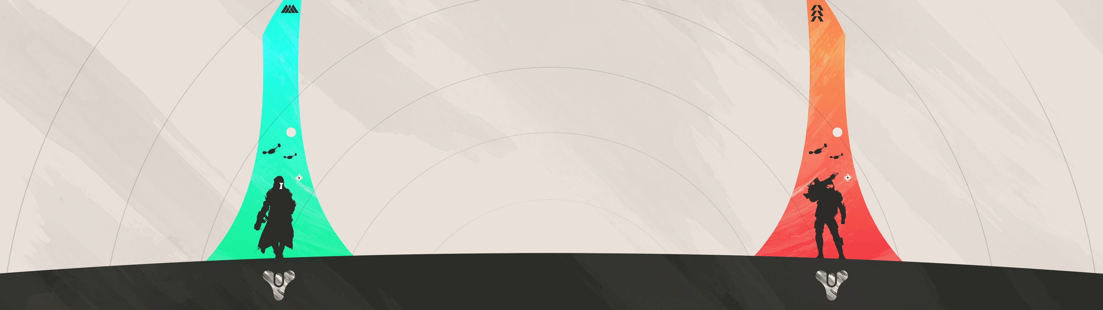 Created this trio of Minimalist Destiny Banner Posters   Hunter Titan 3840x1080