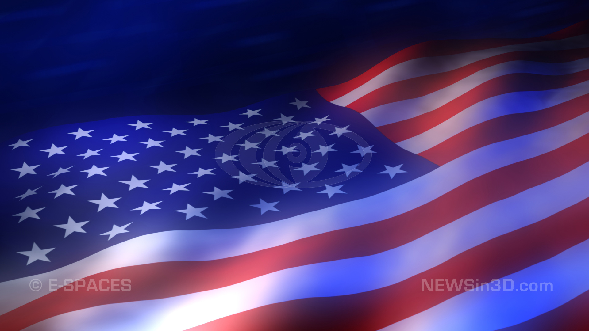 American Flag Looping Animated Background HD 1920x1080