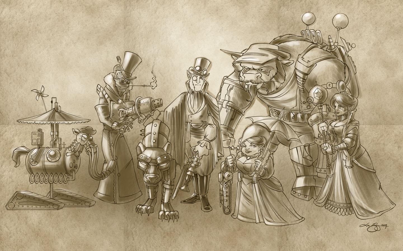 steampunk Wallpaper Background 41122 1440x900