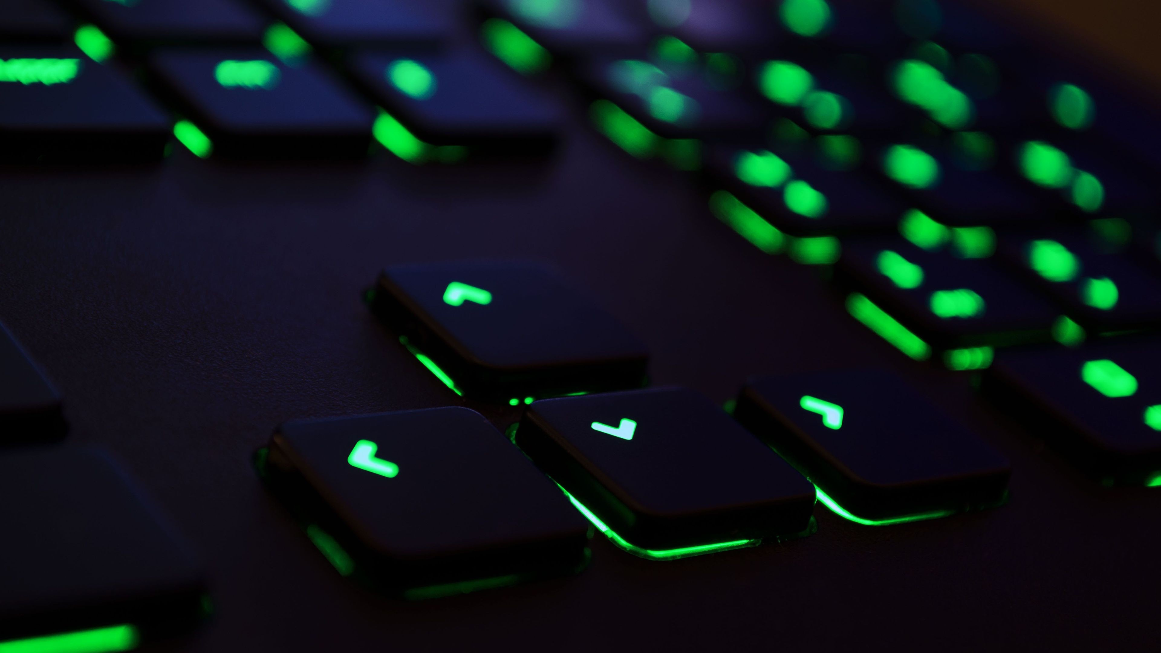 Razer Green Keyboard 4K Wallpapers 3840x2160