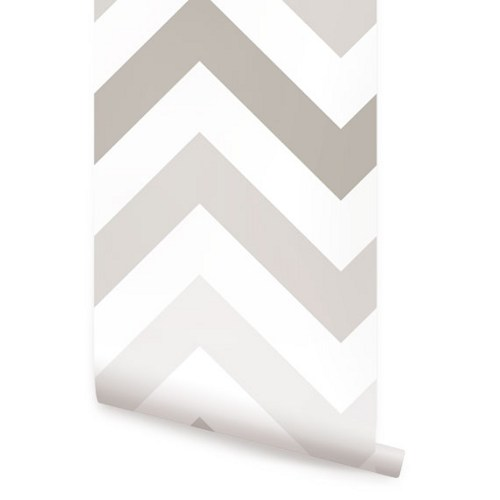 Chevron Warm Grey Peel and Stick Fabric Wallpaper   2ft x 4ft sheet 500x500