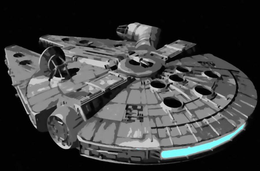 Star Wars Painting Wallpaper Star wars millennium falcon 900x593