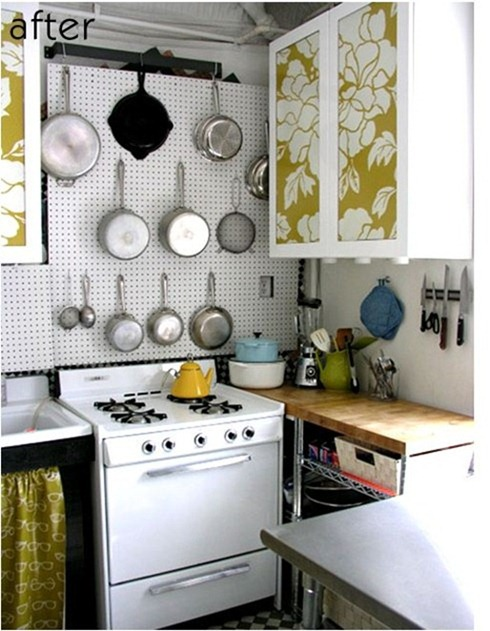 paper covered kitchen cabinets 490x631