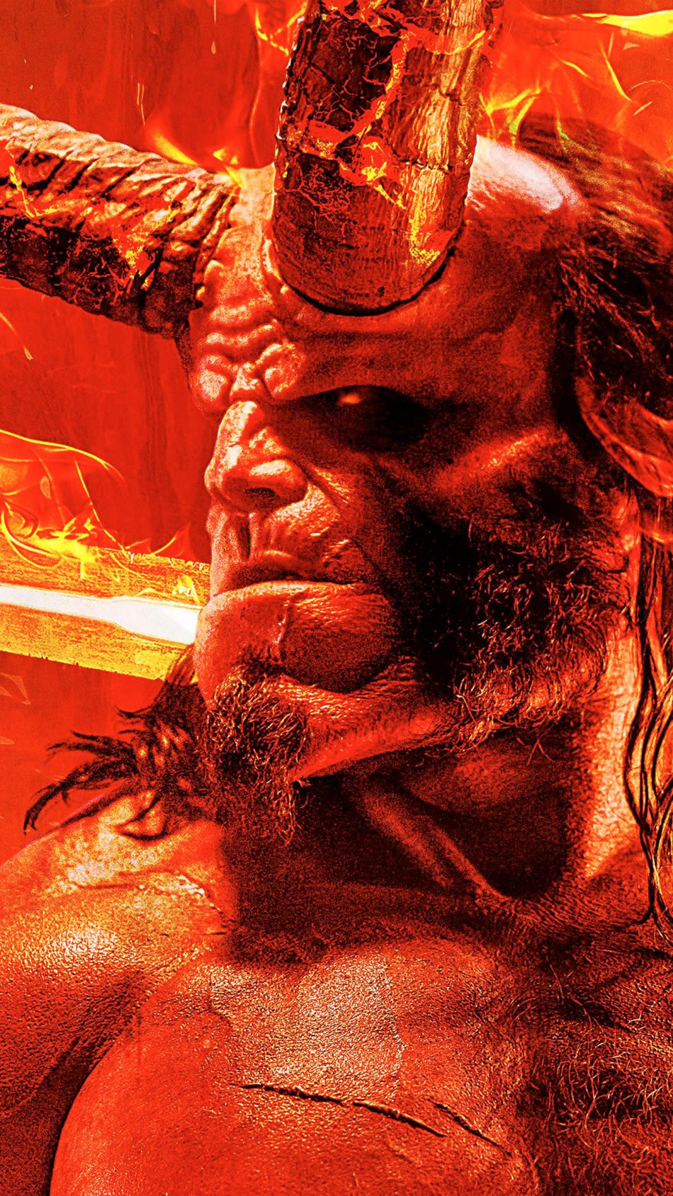 Download Hellboy 2019 Pure 4K Ultra HD Mobile Wallpaper 950x1689