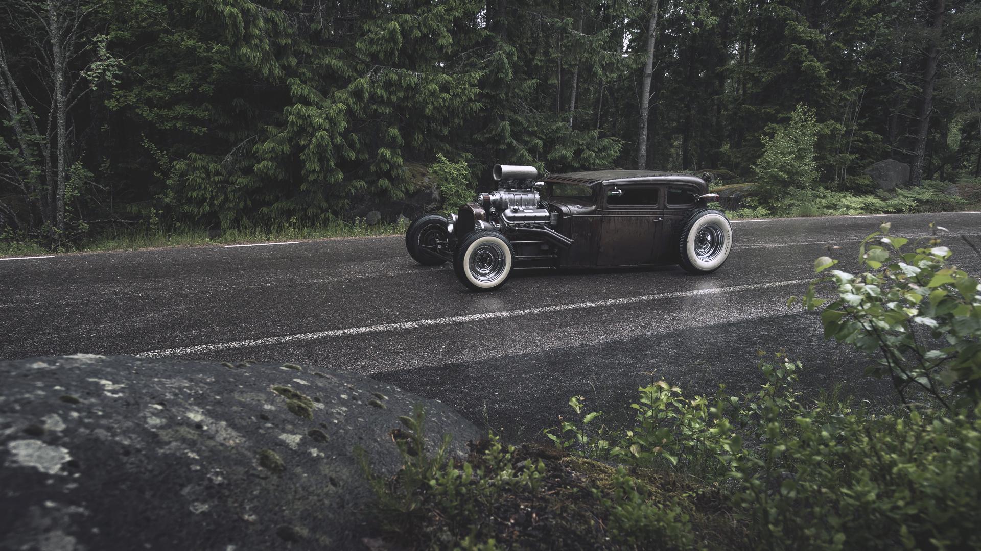 rat rod ford rat gender forest rain wallpaper photos pictures 1920x1080