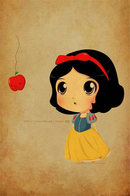 Cute Drawings Of Disney Characters Apple cartoon cute disney 510x765