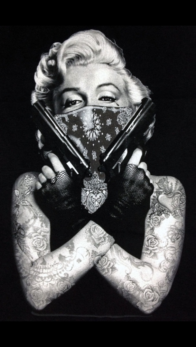 Marilyn Monroe Tumblr Pictures Gangster Thug Out Love 640x1136