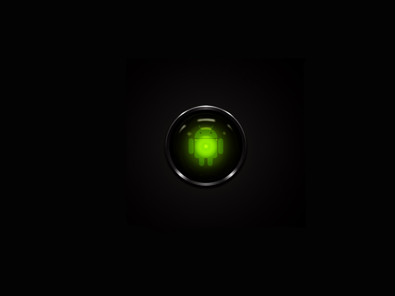 Hd wallpaper android - Green Android 1600x1200 4944 Android Wallpapers Hd Black Background
