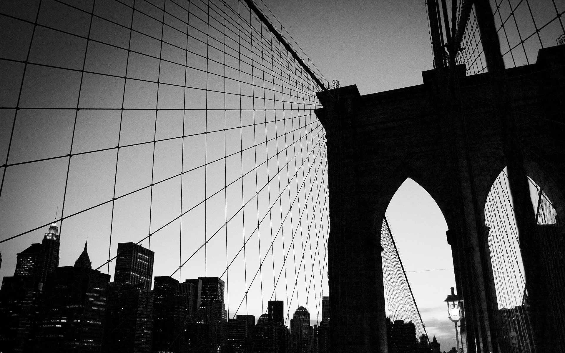 New York City Wallpapers Black and White wallpaper New York City 1920x1200