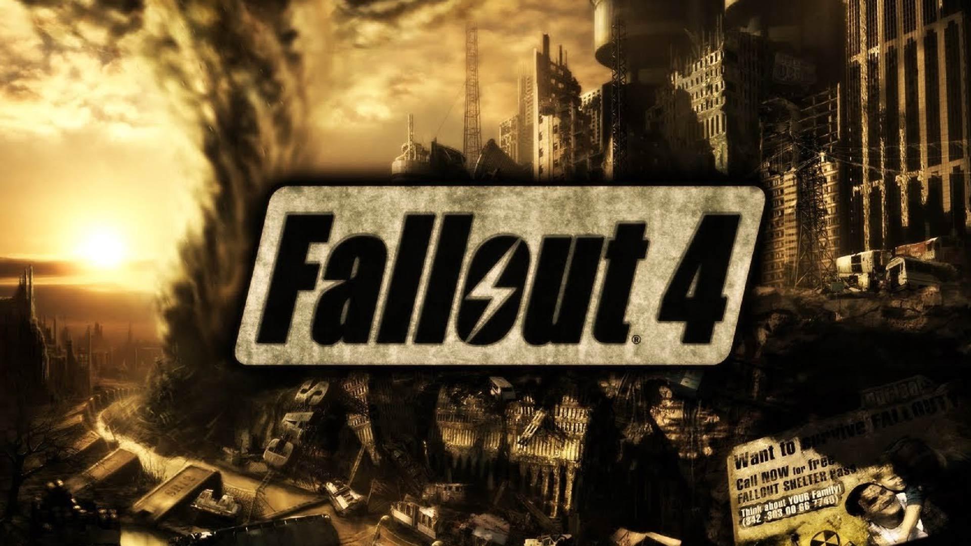 Fallout 4 Logo HD Wallpaper Back Moon 1920x1080