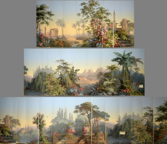 Mural Painting CT Zuber Wallpaper Reproduction part 1 by Marc 551x477